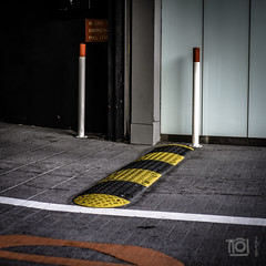 Exit - Singapore (Paul Perton) Tags: fuji singapore xh1 zeiss35mmf14distagon exit garage parking street streetphotography urban yellow