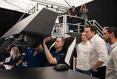 NASA Administrator Visits SpaceX HQ (NHQ201910100010) (NASA HQ PHOTO) Tags: ca hawthorne jimbridenstine spacex crewdragonsimulation elonmusk spacexheadquarters nasa aubreygemignani nasaadministrator