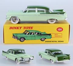 DIN-A-191-Dodge-green-tt (adrianz toyz) Tags: adrianztoyz dinky toys diecast toy model car 191 dodge royal atlas editions reissue green twotone copy reedition
