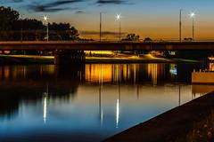 Coolors (_sERo_) Tags: minolta5014 minolta kraków cracow cracovia wisła wisla river bridge most grunwaldzki sunset zachód polska poland evening wieczór bulrawy wiślane vistula manga