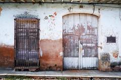 Gutiérrez (emerge13) Tags: architecture colonialarchitecture cuba doors textures trinidadsanctispirituscuba architecturaldetails blue puertas texture minimalism minimal minimalarchitecturaldetails