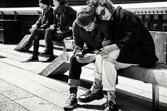 Lean on me... (Tribute to love) (cesar.toribio1218) Tags: loveinthecity love blackandwhite monochrome streetphotography urbanphotography nycphotography bestblackandwhite