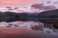Derwentwater (Andrew G Robertson) Tags: derwentwater derwent water sunrise dawn keswick lake district cumbria fence happy friday friars crag