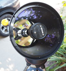 SA065402 Celestron Nexstar 8i SE serial number 956429 under cap of lens corrector w collimation screws crop (SBAUstars) Tags: october 6 2019 sbau celestron nexstar 8i se specialedition astronomy telescope sct forsale tripod santabarbara