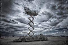 The Balance Ville art car by David Graziano (Dust To Ashes) Tags: burningmanfestival burningman2019 burningman metamorphoses theme burning man bm2019 2019 dust ashes dusttoashes wwwdusttoashesnet sculpture sculptures installation installations surreal playa desert nevada gerlach nv blackrockcity brc art burningmanart desertparty photography photos photo pictures ales the balance ville car by david graziano elevator mutant vehicle dramatic sky duc sizzors lift