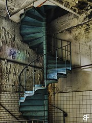 Spiral of the past (baumfinder) Tags: spiral past abandoned verlassen verfall decay urbex urbanexploration staircase stairway zetti chocolate factory olympus