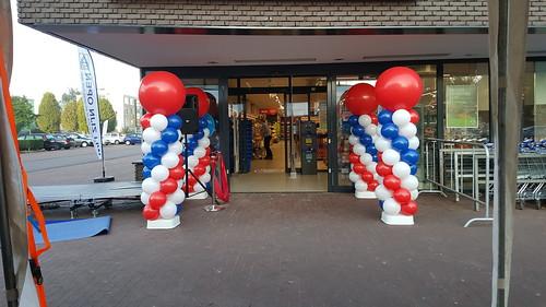 Ballonpilaar Breed Aldi Groningen
