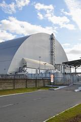 Safe confinement built over reactor 4, Chernobyl, Ukraine (Alex Keshavjee) Tags: alex keshavjee chernobyl reactor4 safe confinement