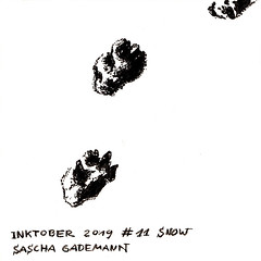 Inktober 2019 #11 Snow (saschagademann) Tags: wolf inktober inktober2019 inktobergermany tinte ink tintenzeichnung inkdrawing füller fountainpen snow schnee winter