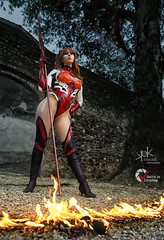 Narga-Chan as Asuka from N.G. Evangelion with Fire FX, shot by SpirosK photography (SpirosK photography) Tags: cosplay costumeplay asuka asukalangleysohryu neongenesisevangelion evangelion palazzogonzaga portrait anime manga fire playingwithfire spiroskphotography realfire fantasy nargachan voltaincosplay voltaincosplay2019 vic strobist