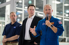 NASA Administrator Visits SpaceX HQ (NHQ201910100020) (NASA HQ PHOTO) Tags: hawthorne ca jimbridenstine spacex elonmusk doughurley spacexheadquarters nasa aubreygemignani nasaadministrator
