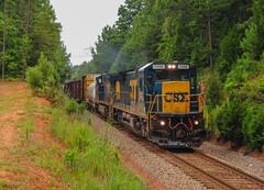 An Older One (ajketh) Tags: csx csxt freight train railroad ge general electric c408 cr conrail waxhaw nc sc north south carolina marker lights cw408 7498