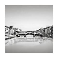 Florence (GlennDriver) Tags: black white long exposure bnw bw mono monochrome fineart canon nd bridge river water italy florence city urban