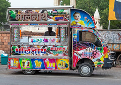 Ice cream and juices colorful truck, Rajasthan, Bikaner, India (Eric Lafforgue) Tags: adults asia bikaner business city colorful colourimage dailylife day drink eating food foodanddrink foodtruck horizontal icecream india india191922 indianculture juicedrink lifestyle lifestyles men oneadultonly onemanonly oneperson outdoormarket outdoors rajasthan retrostyle selling street streetmarket traveldestinations truck urban urbanscene vanvehicle