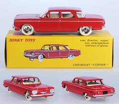 DIF-D-552-Corvair-red (adrianz toyz) Tags: adrianztoyz dinky toys diecast toy model car france french chevrolet chevy corvair deagostini reissue copy
