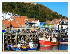 old harbour (overthemoon) Tags: uk england northyorkshire scarborough northeastcoast seaside architecture boats harbour oldharbour