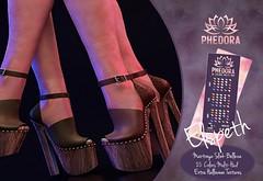 "Phedora for Fameshed - ""Elspeth"" platforms ♥ (Celena Galli ~ phedora.) Tags: sl secondlife second life phedora 3d mesh shoes brand heels platforms shoewear womenswear pumps woman women sexy sassy stylish classy cute chic kinky kawaii fashion event monthly events original content 100mesh new release newrelease meshbody hud multihud maitreya lara belleza isis freya venus slink hourglass physique shopping shopaholic shappaholic straps ankle booties sportswear streetwear ankleboots urban funky heel strappy style strappyheels avatar female femaleavatar femaleavi laces summer fameshed fameshedevent halloween"