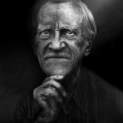 Atmospheric portrait (Ales Dusa) Tags: man portrait candid blackbackground streetportrait blackandwhite bwportrait outdoor people human humanity oldman senior alesdusa lowkey dark atmosphericportrait moustache strongcontrast canon canoneos5dmarkii ef50mmf18stm streetshot elderly