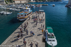 Dubrovnik harbour - Arrivals (PapaPiper) Tags: dubrovnik harbour historic historiccentre seascape sea boats tourists jetty croatia blue perspective