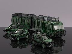 The Lost World: Jurassic Park - Mobile Lab & SUV Cars (L-DI-EGO) Tags: lego jurassic park lost world dinosaur car movie film toy rebrick mercedes benz fleetwood rv suv