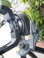 SA095420 SBAU Bosch & Lomb 8000 8 inch SCT fork mount Right Ascension ring w lock and turn knobs (SBAUstars) Tags: october 7 2019 sbau bosch lomb criterion 8 inch sct forkmount telescope forsale santabarbara astronomy