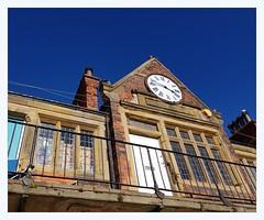 harbour building, centre (overthemoon) Tags: uk england northyorkshire scarborough northeastcoast seaside architecture brickwork clock time publicconveniences