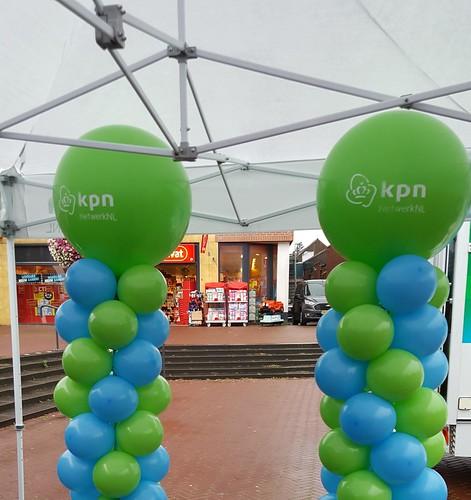 Ballonpilaar Breed Bedrukt KPN Zuidhorn
