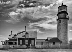 Cape Cod Lighthouse (WilliamND4) Tags: fencefriday hff lighthouse monochrome blackandwhite clouds nikon d810