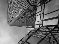 Soll und Haben III (s.W.s.) Tags: frankfurt germany deutschland europe architecture architectural building sky skyscraper glass lookup neutraldensity longexposure blackandwhite nikon lightroom