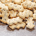 Sweet cookies crackers with poppy seeds