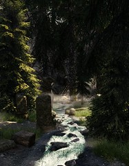 Forest Clearing (Quiet Naiad) Tags: tesv skyrim scenery landscape screenshot screenarchery