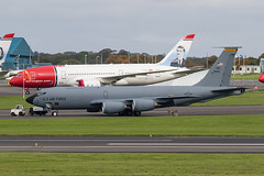 59-1506 KC-135R USAF and LN-LNG B787-8 Norwegian Prestwick 18.09.19 (Robert Banks 1) Tags: 591506 boeing kc135r k35r kc135 usaf united states air force prestwick egpk pik 185 arw sioux city iowa ang lnlng b787 b788 norwegian nax edvard munch