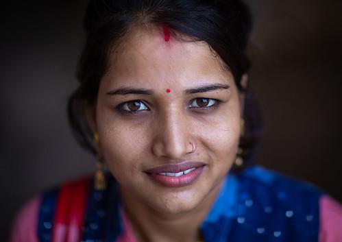 Portrait of a rajasthani woman, Rajasthan, Amer, India