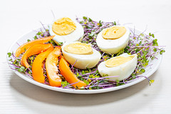 Micro-greens cabbage with boiled eggs and pieces of bell pepper (wuestenigel) Tags: egg natural boiled cabbage bellpepper slice organic cooking raw background healthy fresh salad vegetable chicken food closeup ingredient microgreens nutrition concept plate yolk green meal protein diet white 2019 2020 2021 2022 2023 2024 2025 2026 2027