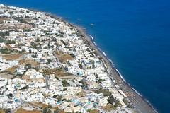 Kamari, Santorini (Seventh Heaven Photography - (Travel)) Tags: town beach view landscape messavouno mountain blue water sea nikond3200 kamari buildings houses aegean panorama