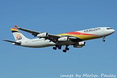 Air Belgium A340 oo-aba (merlyn.pauley) Tags: london londonheathrow londonheathrowairport airliner airport airbus airbelgium a340 ooaba a340313