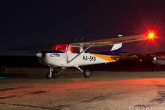 HA-SKV (Andras Regos) Tags: aviation aircraft plane fly airport lhny nyíregyháza cessna c152 night nvfr nightvfr