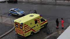 Unfall-00350 (pischty.hufnagel) Tags: dresden johannstadt unfall fahrrad krankenwagen polizei bmw