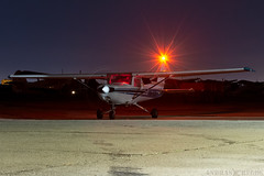 HA-SLW (Andras Regos) Tags: aviation aircraft plane fly airport lhny nyíregyháza cessna c152 night nvfr nightvfr