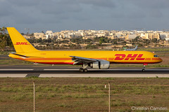 DHL Air Boeing 757-23N(PCF) 'G-DHKE' LMML - 07.10.2019 (Chris_Camille) Tags: dhl air boeing 75723npcf gdhke spottinglog registration planespotting spotting maltairport airplane aircraft plane sky fly takeoff airport lmml mla aviationgeek avgeek aviation canon5d 5dmk4 70200mm28 canonef canon livery myphoto myphotography
