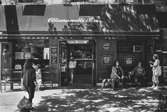 Deli (Nun Nicer Artist) Tags: deli restaurant blackandwhite bnw 35mmstreetphotography city manhattan monochrome travel streetphotography citylife nunnicer newyork