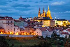 Hrad (S l a w e k) Tags: prague czechia cityscape bluehour hradcany