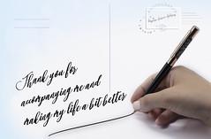 Thanks to you - Amparo García Iglesias (Amparo Garcia Iglesias) Tags: thankstoyou papel letras postal carta swavroski cristal fotografia amparo garcia iglesias photography diseño gracias boligrafo escritura