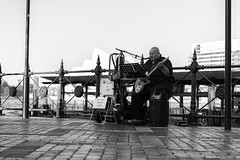 Blues Busker (Leighton Wallis) Tags: sony alpha a7r mirrorless ilce7r 55mm f18 emount sydney newsouthwales nsw australia circularquay sydneyoperahouse ferry busker tourists