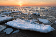 Icy Delaware Bay (Andrew Snyder Photography) Tags: andrewmsnyder andrewsnyderphotography ice delawarebay newjersey capemay sunrise cold winter