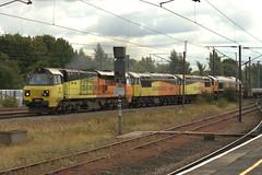70816-56049-56087-66785-DT-10092019-1 (RailwayScene) Tags: class70 70816 colas 6s31 class56 56049 56087 robinoftemplecombe class66 66785 gbrf gbrailfreight darlington