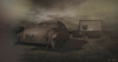 The Past Increases (Loegan Magic) Tags: secondlife landscape drivein car vintage grunge movie