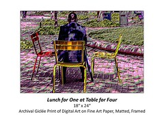 "Lunch for One at Table for Four • <a style=""font-size:0.8em;"" href=""http://www.flickr.com/photos/124378531@N04/48880608452/"" target=""_blank"">View on Flickr</a>"