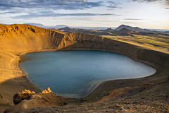Viti (ponzoñosa) Tags: viti myvant geothermal krafla crater lake lago sunset saga iceland islandia water