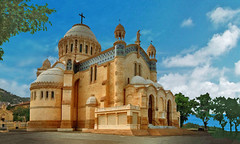"AFRICA - Algiers - Basilica ""Notre-Dame d'Afrique"" (Jacques Rollet (Little Available)) Tags: africa algiers alger basilica notredamedafrique groupenuagesetciel"